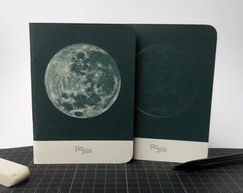 Set of 2 - Roels notebooks - moon series - size A6