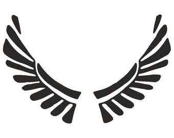 Tattoo style Angel wings STENCIL Tattoo StyleTough Reusable 350 Micron Material Various Sizes  #T051