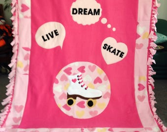 ROLLER SKATE FLEECE Blanket