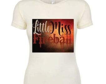 Little Miss Fireball Shirt, Fireball Whiskey Shirt, Whiskey Tshirt, Whiskey Girl Shirt, Country Shirts, Country Outfit Top, Fireball Tee