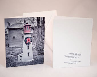 Blank Notecards Lighthouse Lawn Ornament pkg of 10
