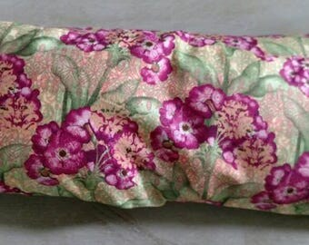 Pink Flowers Flaxseed Neck Wrap