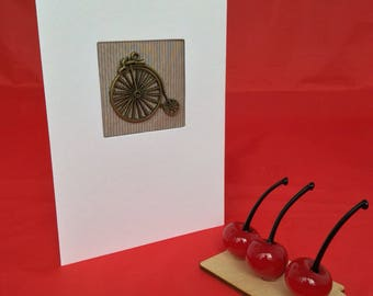 Penny farthing bicycle fathers day card