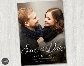Save the Date Photo Invitation / DIY / Postcard / Customized Printable (7x5)