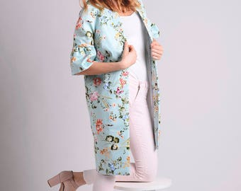 Japanese inspired kimono coat with ruffle sleeves LIMITED EDITION
