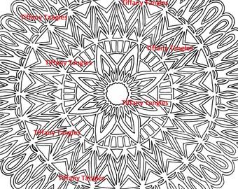 Doily Mandala Coloring Page