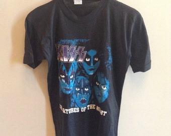 Vintage KISS - Creatures of the Night shirt - MEDIUM
