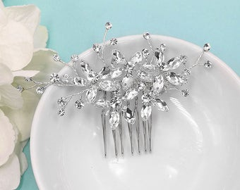 Swarovski Crystal Comb, Bridal Comb Headpiece, Rhinestone Comb, Crystal Bridal Comb, Wedding Head Piece, Adelynn Bridal Headpiece