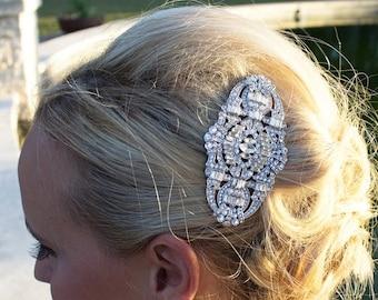 SALE Ends Sunday Art Deco Bridal Comb, Rhinestone Comb, Bridal Comb Crystal, Wedding Crystal Hair Comb, Hair Comb, Wedding Accessory, 204833