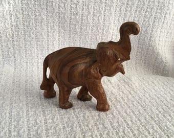 Hand Carved Wood Elephant with No Tusks, Wood Elephant, Hand Carved Elephant, Wood Elephant without Tusks, Elephant Decor, Elephant Figurine
