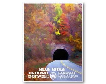 Blue Ridge Parkway Travel Poster