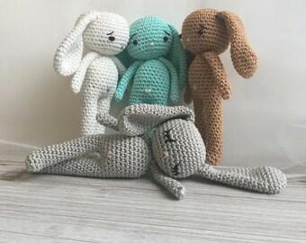 longear easter Bunny,crochet bunny, crochet toy,baby bunny,easter bunny, baby bunny, child gift, newborn birth gift, newborn shower gift