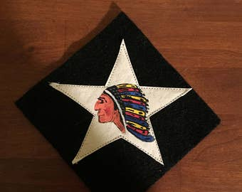 "WWI US Army  Marine 2nd division ""Indian"" patch ,5th Marines AEF"