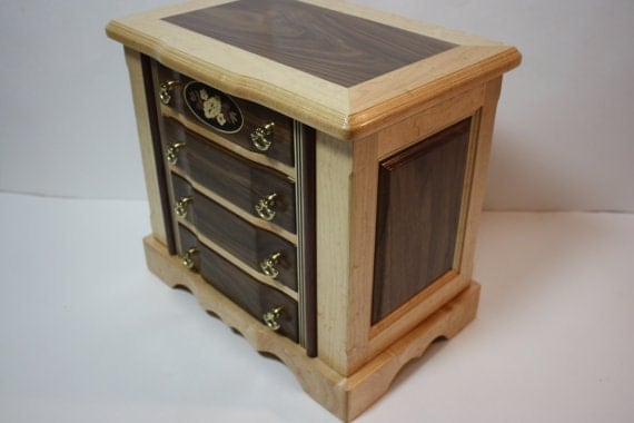 Large Jewelry Box with Drawers