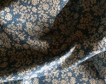 Country Flower Fabric in Delph blue