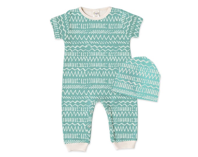 Baby Coming Home Outfit, Baby Romper Beanie, Beach Baby Bodysuit, Baby Short Sleeve Romper, Unisex Tropical Romper TesaBabe RC860SIIY0000