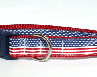 American Flag Patriotic Dog Collar