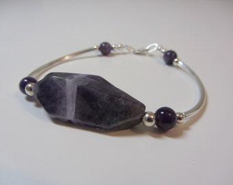 Banded Amethyst Bracelet