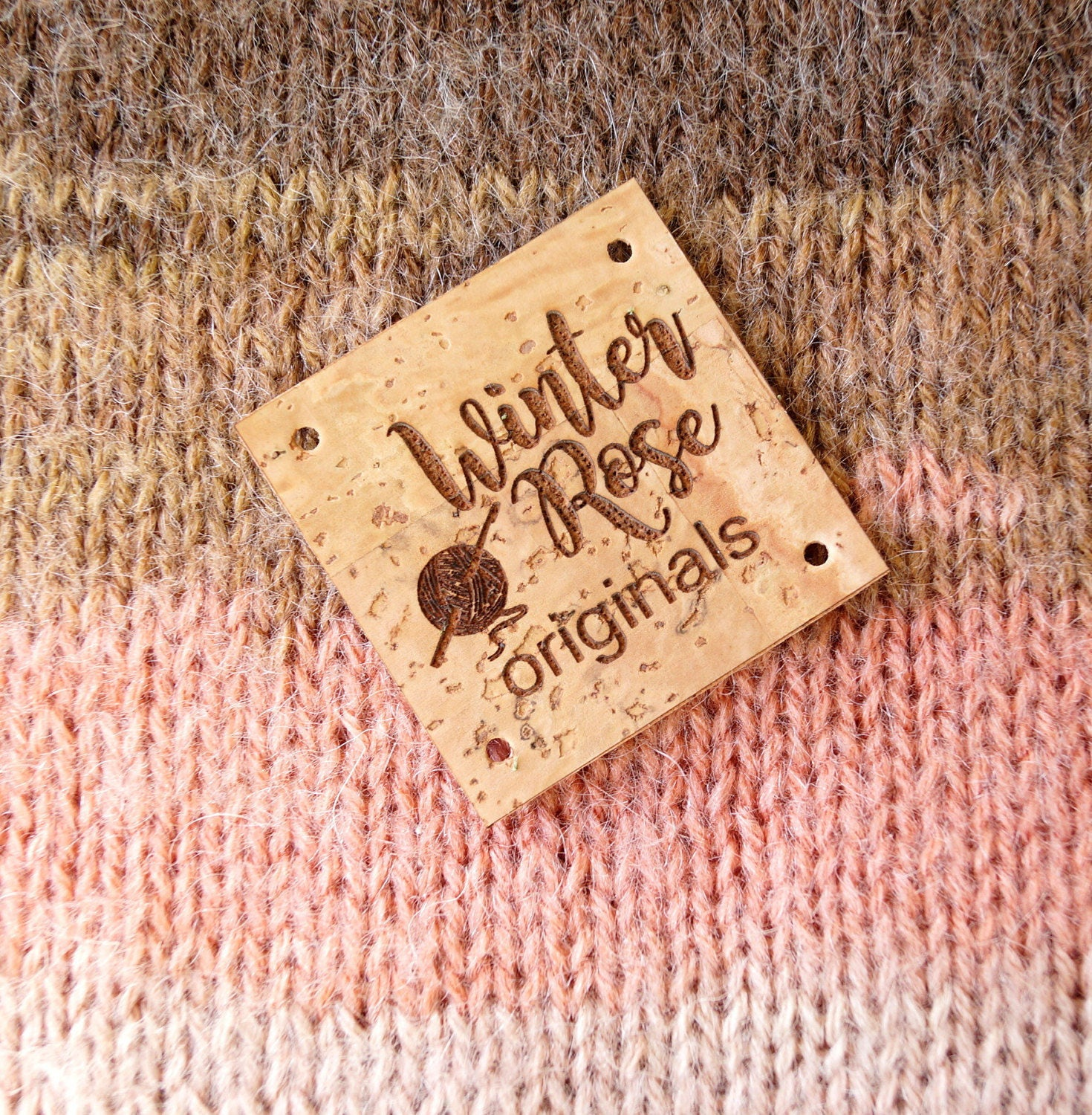 Knitting Labels Canada : Clothing labels cork leather custom tags
