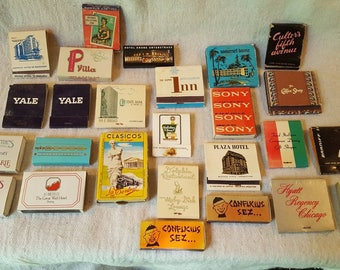 Lot of 26 Various Matchbooks, 1950's to 1970's