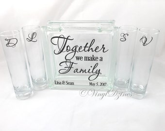 Together We Make A Family Unity Sand Ceremony Set - Blended Family Unity