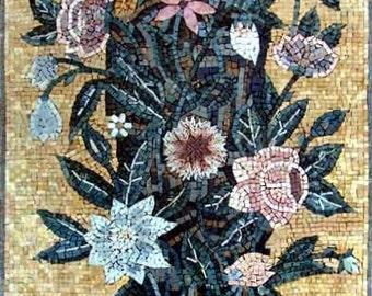 Vase Of Flowers Mosaic