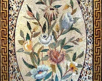 The Floral Egg Mosaic Mural