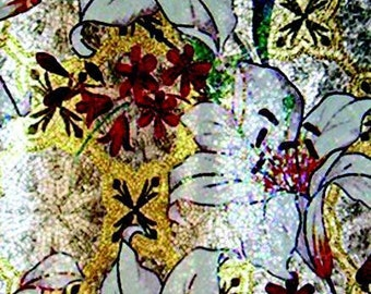 Floral Mosaic Wall Art - Water Lilies