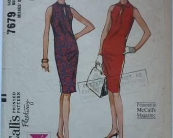 "Vintage Sewing Pattern. McCalls 7679. Dress pattern 1960s. Bust 36"""