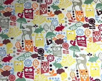 Slip cover for the Ikea Klobo sofa in lovely Forrest Friends  print cotton fabric