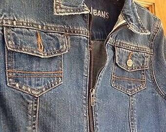 Vintage roots denim blue jean jacket