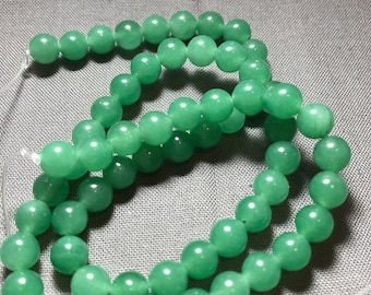 6mm green jade beads