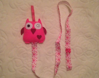 Hair clip holder, owl hair clip holder, pink hairclip holder, headband holder,