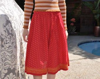 Bohemian Indian Skirt