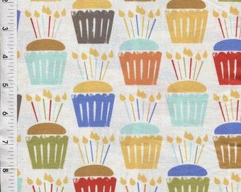 Michael Miller Cupcake Craze White Fabric