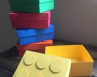 Block Favor Box - Building Block Favor Box - Building Brick Favor Box - Block Party Decor - Block Centerpiece