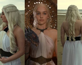 Daenerys Targaryen Yunkai White Dress Belt Game of Thrones Cosplay Khaleesi Costume (Belt Only - Waist Measurements Needed)