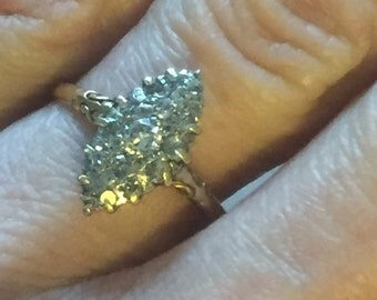 A Diamond 18k gold Victorian Ring
