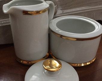 Belfor bohemian china creamer pitcher milk and sugar bowl set