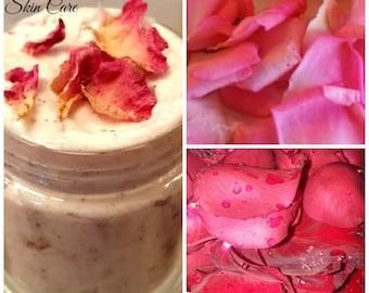 Rose Petal Body Butter - 2 oz Size, Nourishing, Aromatic, Anti-inflammatory, Antioxidants, Romantic, Intoxicating, Whipped