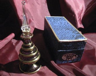 perfume bottle Egypt hand made blown glass purple very vanity ready 1985 estate sale off the shelve after 32 yrs perfume ready vintage sale