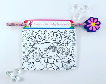 Poppy colouring card and pencil holder