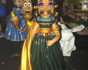 Figurine doll statue decoration Noël Cléopâtre Egypte