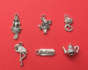 Alice in Wonderland Charm Collection Antique Silver - CC051