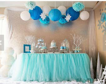 Tulle Tutu Table Skirt  Customized Table Skirts for Wedding Birthday Party Baby Shower Decoration Backdrops