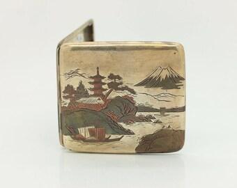 Antique original perfect silver europen cigarette case