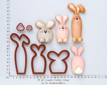 3D Bunny Cookie Cutter Set
