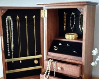 An awesome Jewelery Chest. A great place to store and display your fine jewelry and keepsakes.