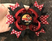 Red polka dot Minnie Mouse bow