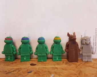 Teenage mutant ninja turtles birthday candles 3D